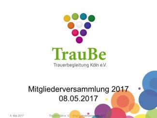TrauBe Mitgliederversammlung 2017